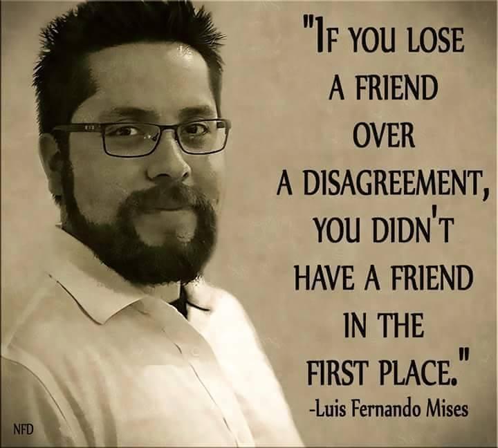 Loss of a friend over a disagreement