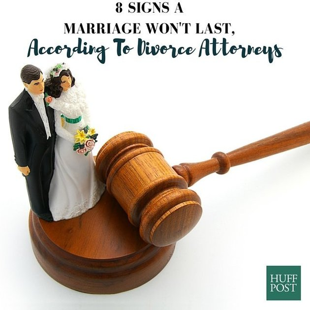 8 Signs A Marriage Won't Last, According To Divorce Lawyers