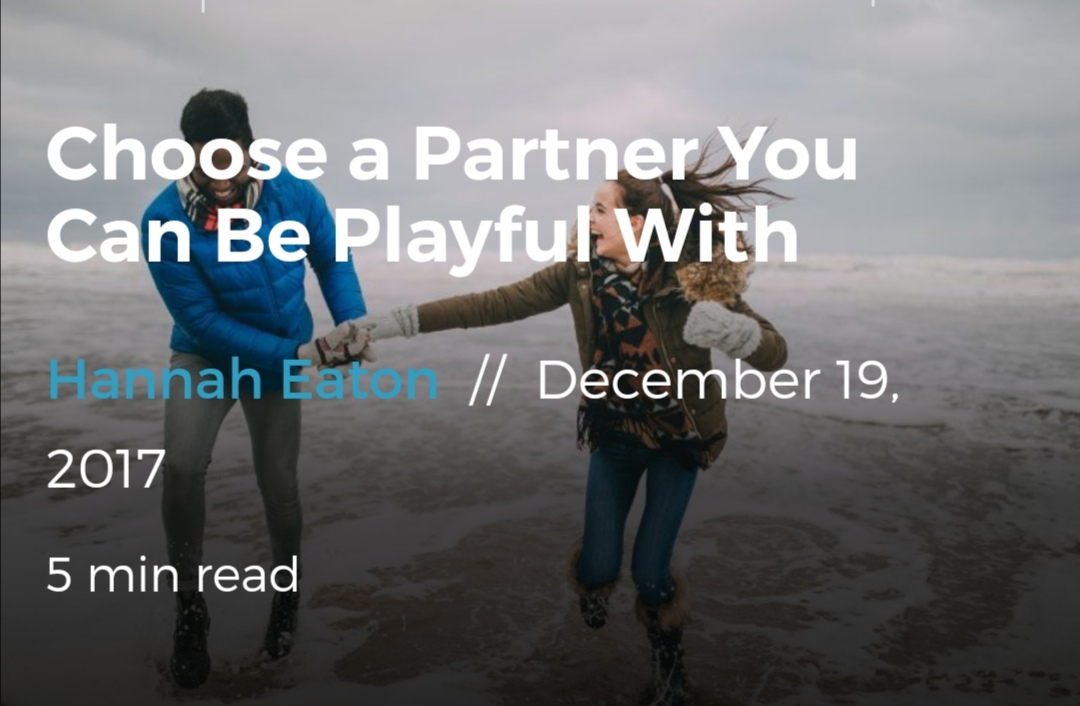 Choose a Partner You Can Be Playful With